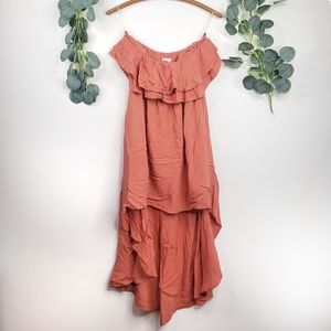 L'atiste By Amy Strapless High Low Dress | L | EUC